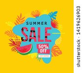 sale website banner. sale tag.... | Shutterstock .eps vector #1419626903