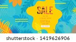 sale website banner. sale tag.... | Shutterstock .eps vector #1419626906