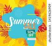 sale website banner. sale tag.... | Shutterstock .eps vector #1419626909
