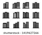 company icons set on white... | Shutterstock .eps vector #1419627266