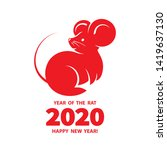 rat is a symbol of the 2020... | Shutterstock .eps vector #1419637130