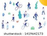 background isometric people...   Shutterstock .eps vector #1419642173