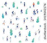 background isometric people...   Shutterstock .eps vector #1419642176