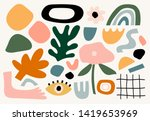 set of hand drawn various... | Shutterstock .eps vector #1419653969