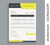 creative business invoice...   Shutterstock .eps vector #1419661649