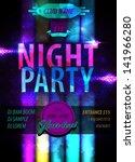 posters parties   vector...   Shutterstock .eps vector #141966280