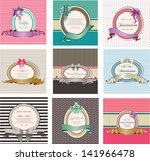 set of invitation cards and... | Shutterstock .eps vector #141966478