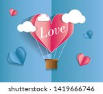 valentines day love invitation ... | Shutterstock .eps vector #1419666746