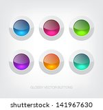 a set of white vector glossy... | Shutterstock .eps vector #141967630