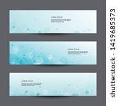 scientific set of modern... | Shutterstock .eps vector #1419685373
