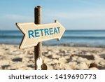 close up of retreat directional ... | Shutterstock . vector #1419690773