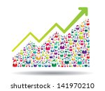growth chart and prgresso... | Shutterstock .eps vector #141970210