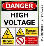 Danger High Voltage Label Set