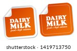 dairy milk stickers isolated on ... | Shutterstock .eps vector #1419713750