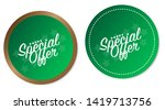 special offer stickers isolated ... | Shutterstock .eps vector #1419713756