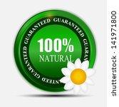 100  natural green label... | Shutterstock .eps vector #141971800
