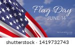 14th june   flag day in the...   Shutterstock .eps vector #1419732743