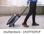 men travel to public transport ... | Shutterstock . vector #1419742919