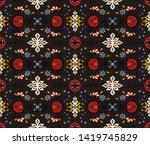 seamless floral pattern folk...   Shutterstock .eps vector #1419745829