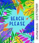 summer vector illustration with ... | Shutterstock .eps vector #1419750989