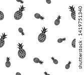 tropical ananas pineapple fruit ...   Shutterstock .eps vector #1419751340