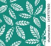 leaves pattern. endless...   Shutterstock .eps vector #1419757850