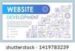 website development banner ...
