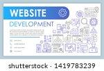 website development banner ...