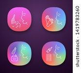allergies app icons set....