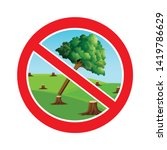 stop cutting trees sign.save... | Shutterstock .eps vector #1419786629