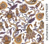 seamless pattern with ethnic ... | Shutterstock .eps vector #1419794039