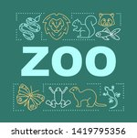 zoo word concepts banner....