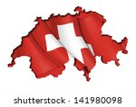swiss map flag | Shutterstock .eps vector #141980098