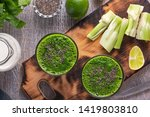 spinach and celery smoothies... | Shutterstock . vector #1419803810