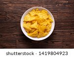 mexican nachos chips with... | Shutterstock . vector #1419804923
