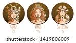earth zodiac set  beautiful...   Shutterstock .eps vector #1419806009