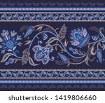seamless border with ethnic ... | Shutterstock .eps vector #1419806660