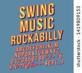 Swing Music Rockabilly Vintage...