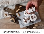 muffin cake with chocolate and... | Shutterstock . vector #1419810113