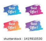 best offer color promo... | Shutterstock .eps vector #1419810530