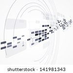 science futuristic internet...   Shutterstock .eps vector #141981343