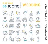set of vector line icons of... | Shutterstock .eps vector #1419816986