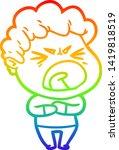 rainbow gradient line drawing... | Shutterstock .eps vector #1419818519