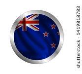 waving new zealand flag  the... | Shutterstock .eps vector #1419818783