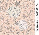tattoo concept seamless pattern.... | Shutterstock .eps vector #141982906