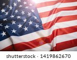 american flag waving in the... | Shutterstock . vector #1419862670