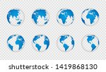 earth globe 3d. realistic world ... | Shutterstock .eps vector #1419868130