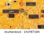 microchips on printed board... | Shutterstock . vector #141987184