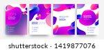 set of brochure cover  annual...   Shutterstock .eps vector #1419877076