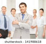 picture of happy and smiling... | Shutterstock . vector #141988618